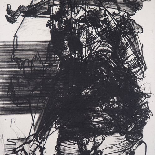 DADO DADO (Miodrag Djuric, dit)  La peur  Gravure originale (Eau forte et aquati…