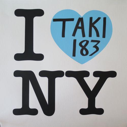 TAKI 183 泷泽萝拉 183  我爱纽约:蓝色版,2021年  双色丝印  用铅笔在心脏处签名  编号  版本为183册  51 x 51 cm / 20…