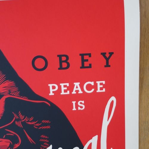 Shepard FAIREY Shepard Fairey (Obey)  Obey Radical Peace (Red), 2021  Sérigraphi…