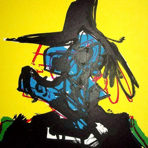 Antonio SAURA 安东尼奥 萨乌拉  超现实主义的画像  原始石版画  签名:印在印刷机上的艺术家姓名  1967年在Clot、Bramsen和Geo…