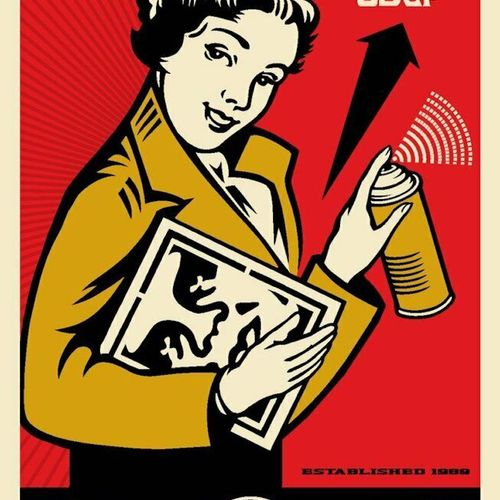 Shepard FAIREY Shepard FAIREY   熬夜女孩,2020年   胶版印刷   艺术家用铅笔签名并注明日期     尺寸91厘米x61厘…