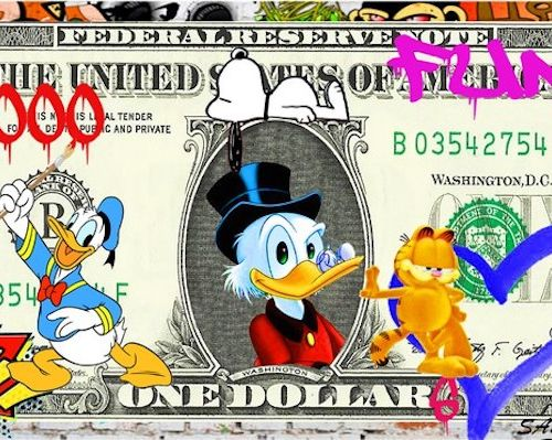 SAM Sam  1000 Dollars  Impression digitale sous plexiglass  Signée  Dimensions :…