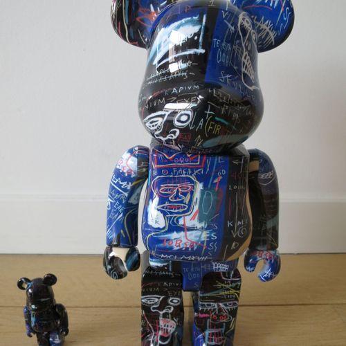 MEDICOM TOY 美迪康玩具  BE @ RBRICK Jean Michel Basquiat Vol.7 together 100% and 400 …