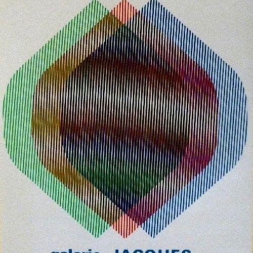 Cruz DIEZ Carlos Cruz Diez  Galerie Jacques Kerchache, 1995  Sérigraphie de l'Af…
