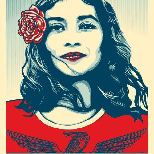 Shepard FAIREY Shepard Fairey  We the people defend dignity  Sérigraphie sur pap…