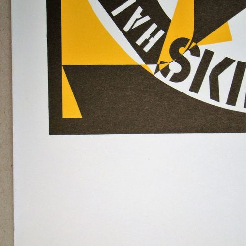 Robert Indiana 罗伯特 印第安纳  Autoportait 69, 1973  纬线纸上的彩色石版画原作,无签名,无编号。  1973年由法国巴黎…