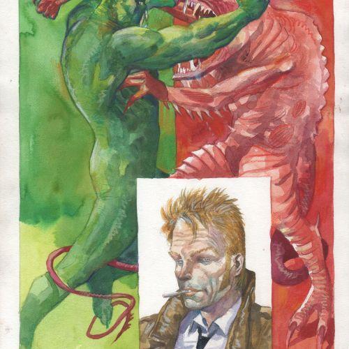 Enrique BRECCIA Enrique Breccia (1945 )  Couverture préliminaire Swamp Thing #5 …