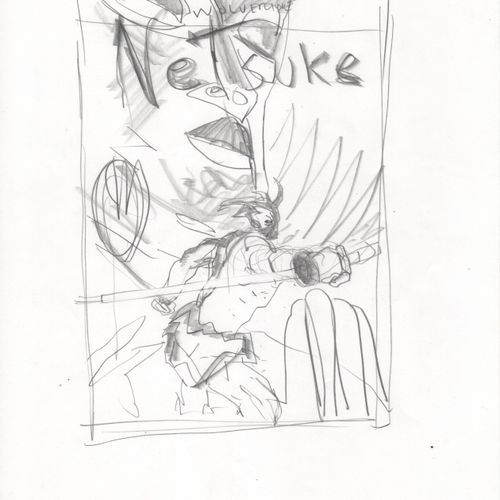 Georges Pratt 乔治 普拉特 (1960)   狼牙棒网盘   用于创作《金刚狼》漫画书的两幅图画套装   尺寸:2张A4纸(29,7 x 21厘米…