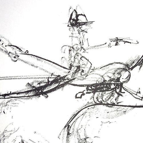 Roberto MATTA Roberto MATTA  Rodéo, Cowboy surréaliste  Lithographie originale  …