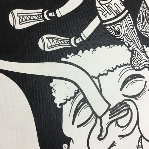Camille Adra 卡米尔 阿德拉 (1990)  无题》,2014年  画布上的混合媒体  背面有签名  尺寸:146 x 96 cm    拍品将由我…