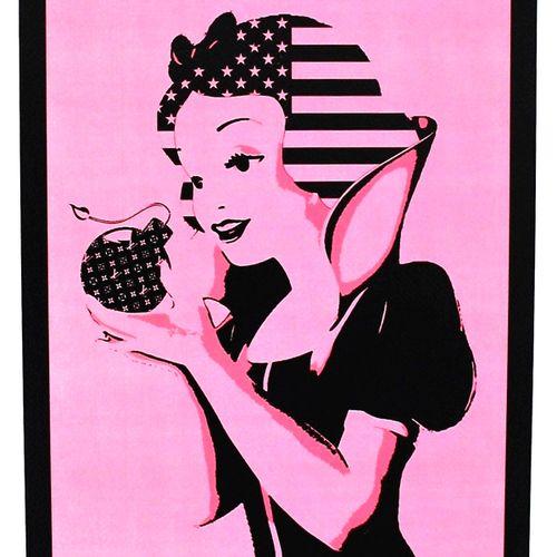 Death NYC 纽约市的死亡  粉红雪花弹2014  丝网印刷。  限量发行100张印刷品。  随机印刷品的编号。  尺寸:45 x 32 cm 艺术纸30…