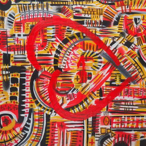 Hind Ziour Hind Ziour  Heartbreaker, 2016  Huile et pastel à l'huile sur toile  …