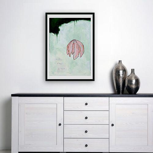 Olivier Biarez 奥利维尔 比亚雷斯  绿色2 2019年  丝网印刷品 签名和编号1/30 Fabriano 240克艺术纸  尺寸:70 x 4…