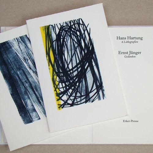 Hans Hartung 汉斯 哈同 ( 1904 1989 )  Erker Presse, 1987  汉斯 哈通的6幅石版画和恩斯特 扬格的画作  该专辑…
