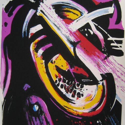 John CHRISTOFOROU 约翰 克里斯托弗罗(1921 2014)  角色  石版画,编号为120份,并有艺术家的铅笔签名  尺寸:89,5 x 63…