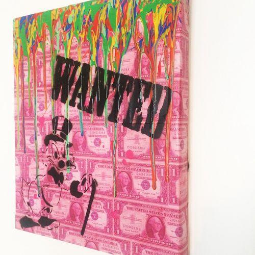NOBODY Nobody   Wanted, 2019     Technique mixte sur toile   Dimensions : 46 x 3…