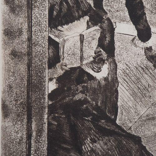 Edgar Degas Edgar DEGAS  Au Louvre, la peinture, Mary Cassatt  Gravure originale…