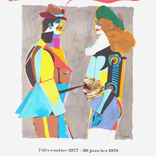 RICHARD LINDNER Richard LINDNER  Femme au tigre, 1977 78  Affiche lithographique…
