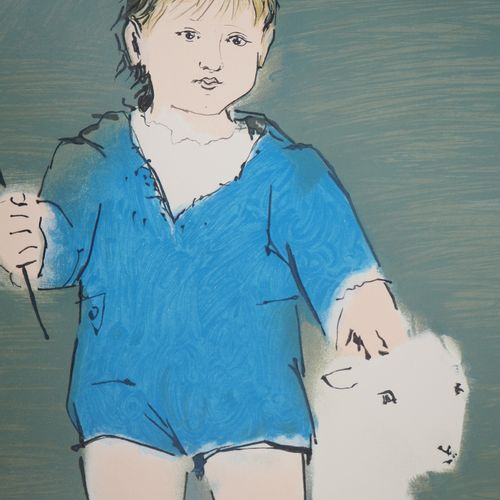 Pablo PICASSO Pablo PICASSO (d'après)  Enfant et agneau : Petit Paul Picasso  Li…