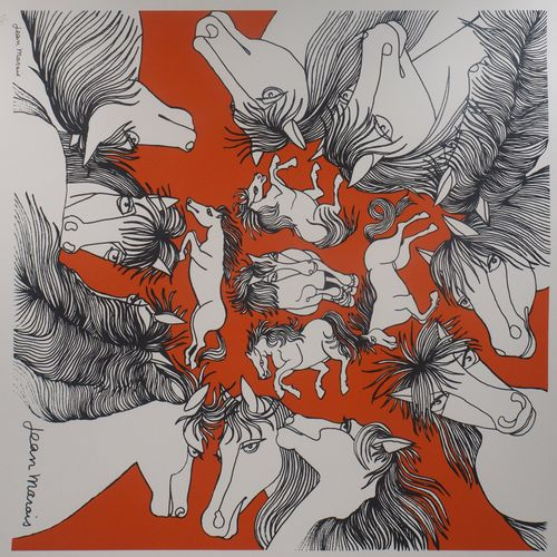 Jean MARAIS Jean MARAIS (1913 1998)  Equitation, Hommage au cheval  Lithographie…