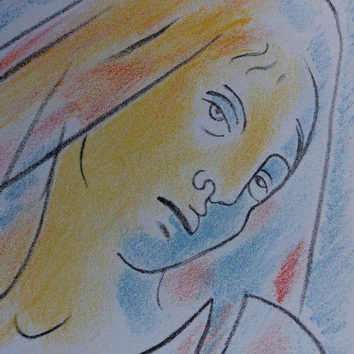 JEAN COCTEAU Jean COCTEAU (1889 1963)  Antigone, 1957  Lithographie Originale  N…
