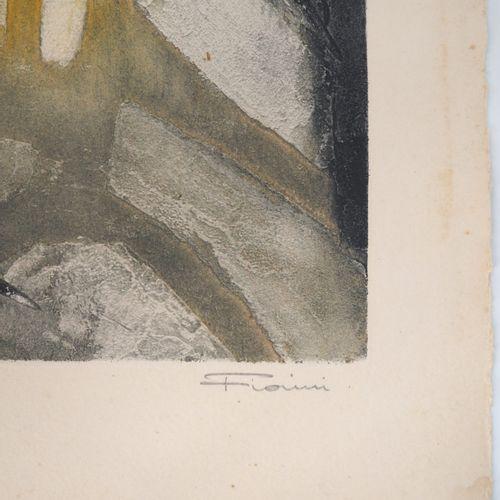 Marcel FIoRINI Marcel Fiorini (1922 2008)  Femme assise  Gravure sur bois origin…