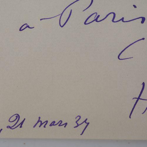 Henri MATISSE Henri MATISSE  Lettre autographe  Lettre entièrement autographe  P…
