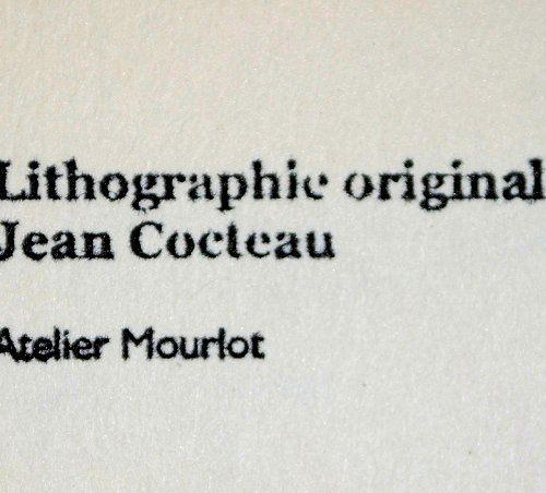 JEAN COCTEAU Jean COCTEAU (1889 1963)  La bénédiction papale  Lithographie Origi…