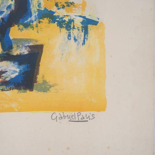 Gabriel PARIS Gabriel PARIS (1924 2000)  Bouquet  Lithographie originale  Signée…