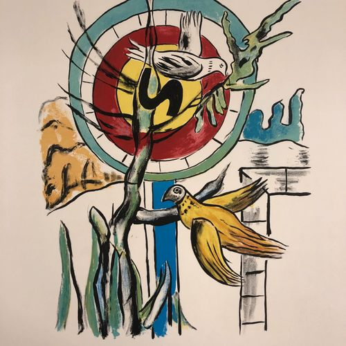 Fernand Leger Fernand Léger Les deux Oiseaux  Lithographie originale sur vélin d…