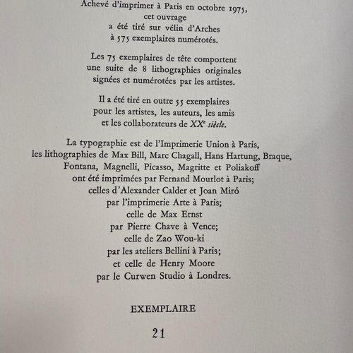 Georges Braque Georges Braque (d'après) Oiseau sur fond X  Lithographie en coule…