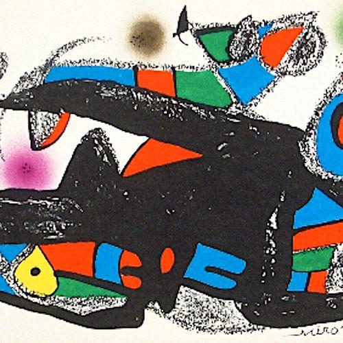 Joan Miro Joan MIRÓ  Miro sculpteur, Danemark, 1974  Lithographie originale sign…