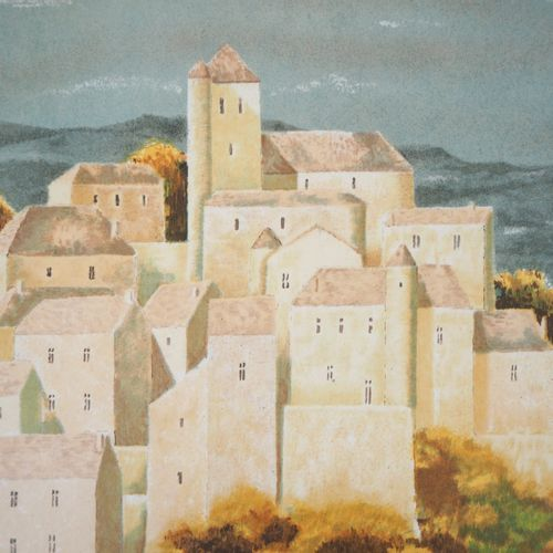 Jean Pierre CAPRON Jean Pierre CAPRON (1921 1997)  Village de montagne  Lithogra…