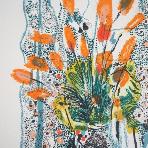 Monique JOURNOD Monique JOURNOD (1935)  Le vase fleuri, 1975  Lithographie origi…