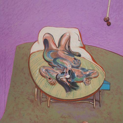 FRANCIS BACON Francis BACON (d'après)  Nu couché, 1966  Lithographie d'après une…