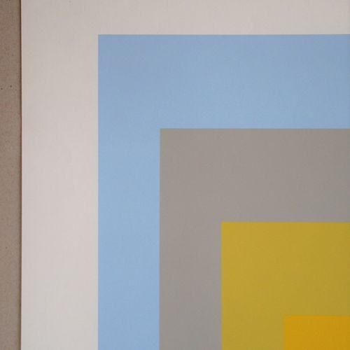 Josef ALBERS Josef ALBERS (d'après ) ( 1888 1976 )  Wid Light Homage to the Squa…