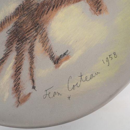 JEAN COCTEAU Jean Cocteau (1889 1963)  Don Quichotte (1958)   Grande plat en cér…