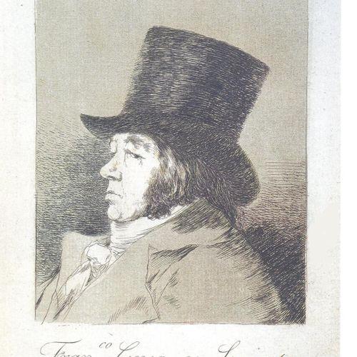 Francisco GOYA Francisco Goya y Lucientes   Autoritratto, 1799     Incisione ori…