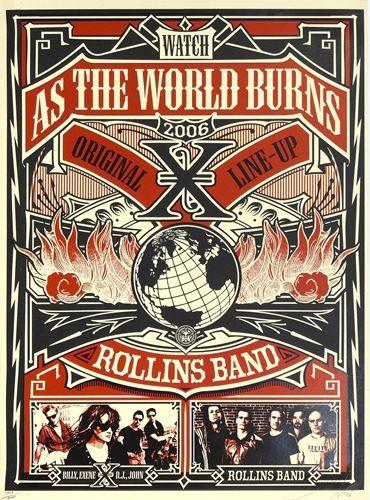 "SHEPARD FAIREY dit obey 2006 Shepard Fairey dit Obey  ""Band Rollins Band X"", 200…"