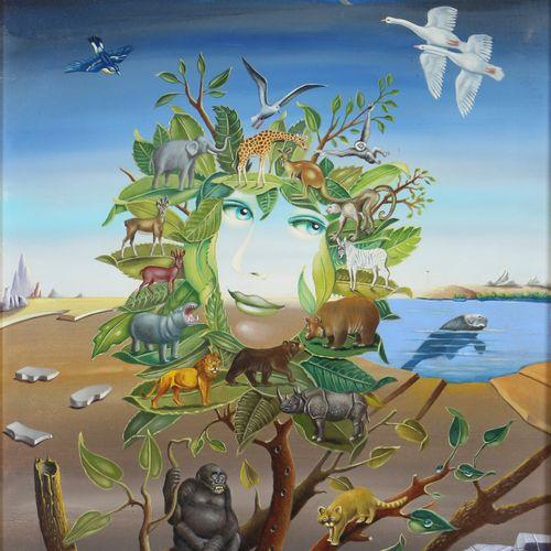 Georges Spiro (1909 1994) Elle Aime Les Bêtes, surrealistic painting, Óleo/lienz…