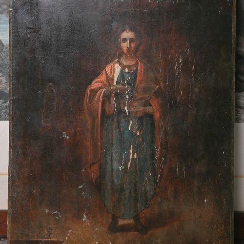 Icône (Russie, probablement XVIIIe/XIXe siècle), tempera/bois, représentant le g…