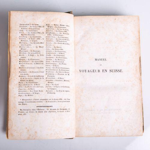 """Ebel, Johann Gottfried (éd.), """"Manuel du voyageur en suise"""", publié par Audin, P…"""