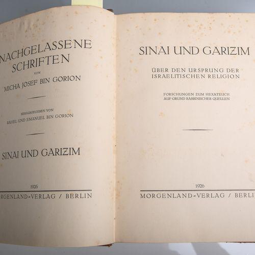 Bin Gorion, Rahel et Emanuel (eds.), Nachgelassene Schriften von Micha Josef Bin…