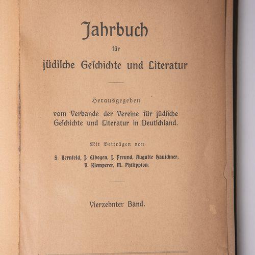 """Verband der Vereine für jüdische Geschichte u. Literatur in Deutchland (ed.), """"J…"""