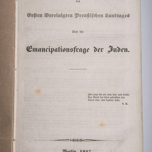 Preußisches Judengesetzt von 1847, complete Verhandlungen des 1. Vereinigten Pre…