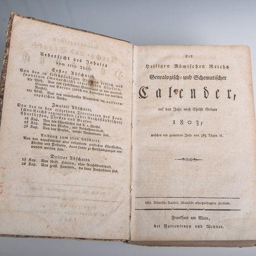 Generalogisches Reichs u. Staatshandbuch, auf das Jahr 1803, Erster Theil, Frank…