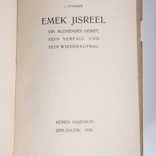 """Ettinger, J., """"Emek Yisreel. Une région florissante, son déclin et sa reconstruc…"""