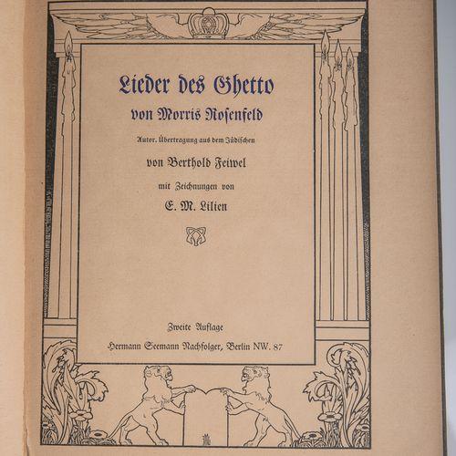 """Rosenfeld, Morris, """"Lieder des Ghetto"""", auteur. Transcription du juif par Bertho…"""