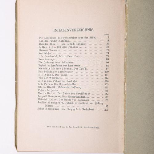 "Herrmann, Hugo (ed.), ""Chad Gadja. Das Peßachbuch"", Maison d'édition juive, Berl…"