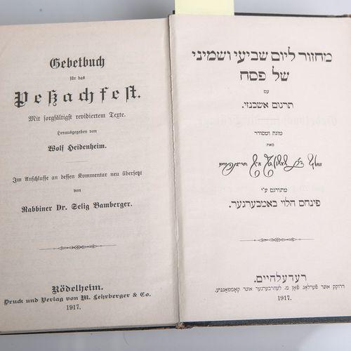 Heidenheim, Wolf (ed.), Gebetsbuch für das Pessachfest, Band II : Pessachfest, 7…